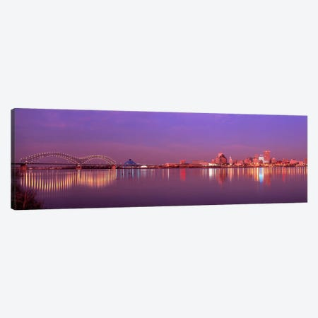 Night Memphis TN Canvas Print #PIM273} by Panoramic Images Canvas Art Print