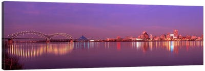 Night Memphis TN Canvas Art Print