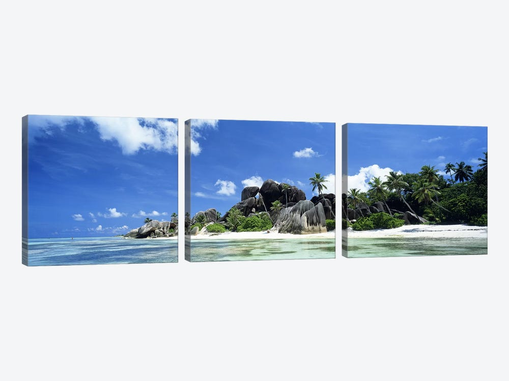 La Digue Seychelles by Panoramic Images 3-piece Canvas Print