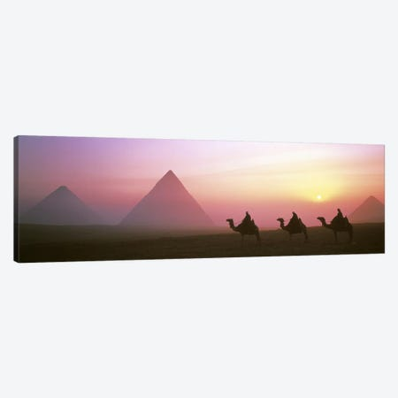 Giza Pyramids Egypt Canvas Print #PIM2743} by Panoramic Images Canvas Artwork