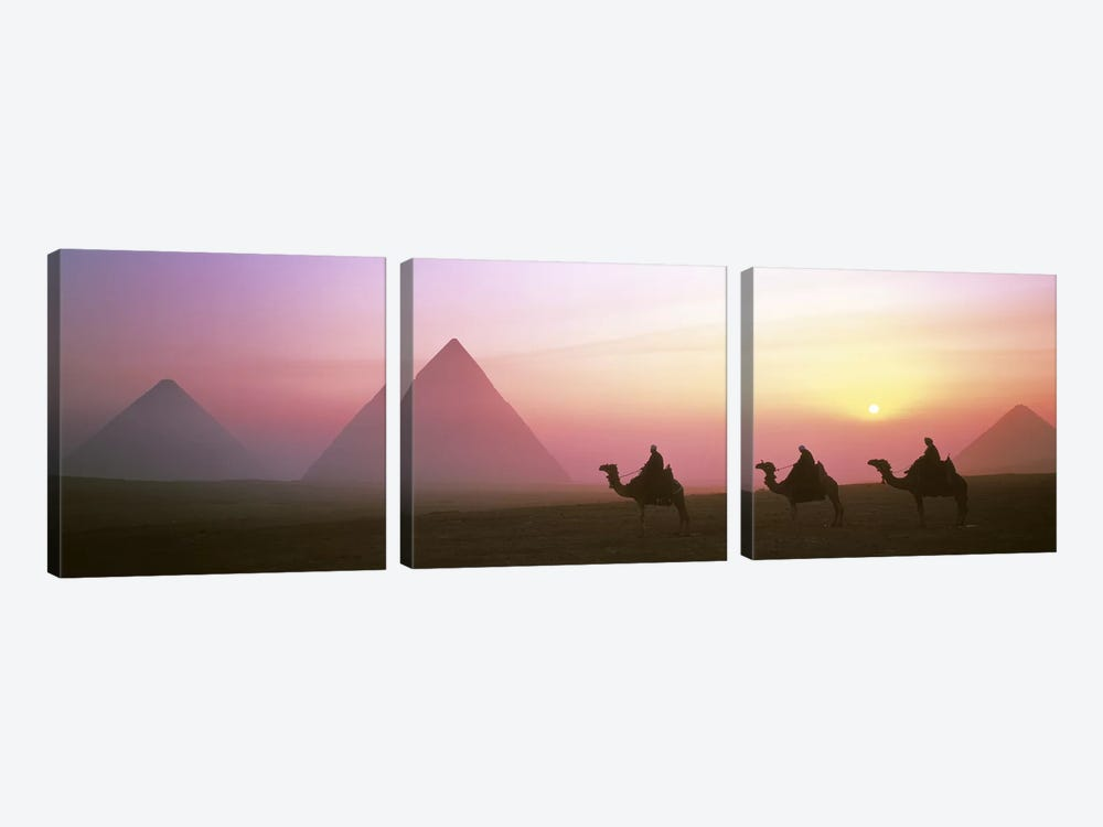 Giza Pyramids Egypt by Panoramic Images 3-piece Canvas Artwork