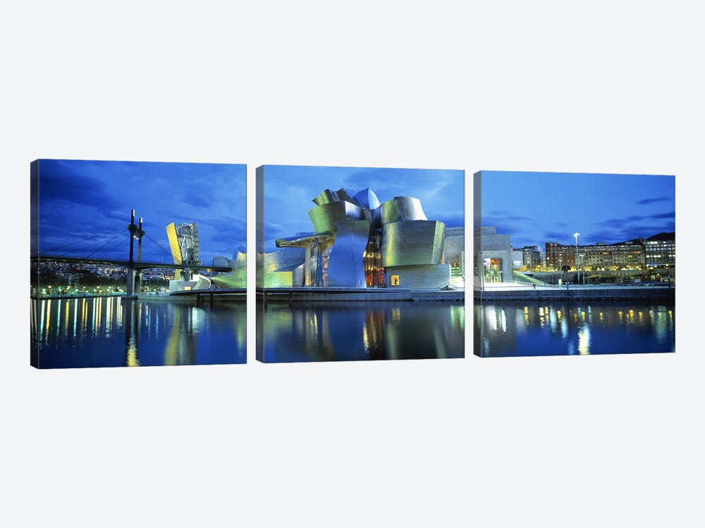 Guggenheim Museum, Bilbao, Biscay Province, Basque Country, Spain by Panoramic Images 3-piece Canvas Art Print
