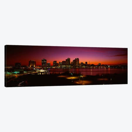 Buildings lit up at night, New Orleans, Louisiana, USA Canvas Print #PIM274} by Panoramic Images Canvas Wall Art