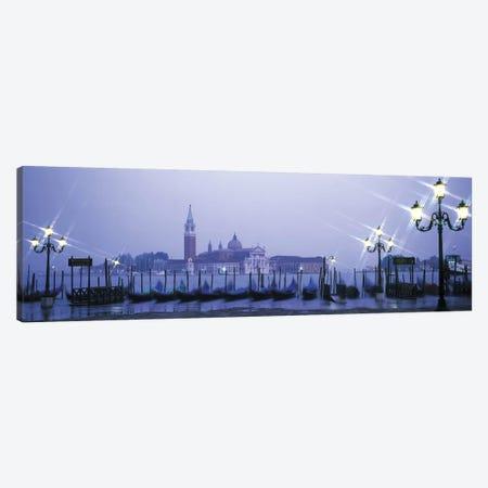 Gondolas San Giorgio Maggiore Venice Italy Canvas Print #PIM2751} by Panoramic Images Art Print