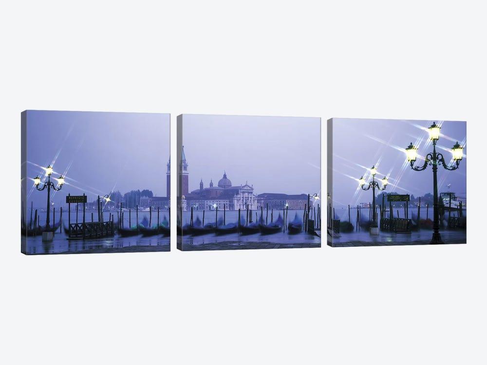 Gondolas San Giorgio Maggiore Venice Italy by Panoramic Images 3-piece Canvas Print