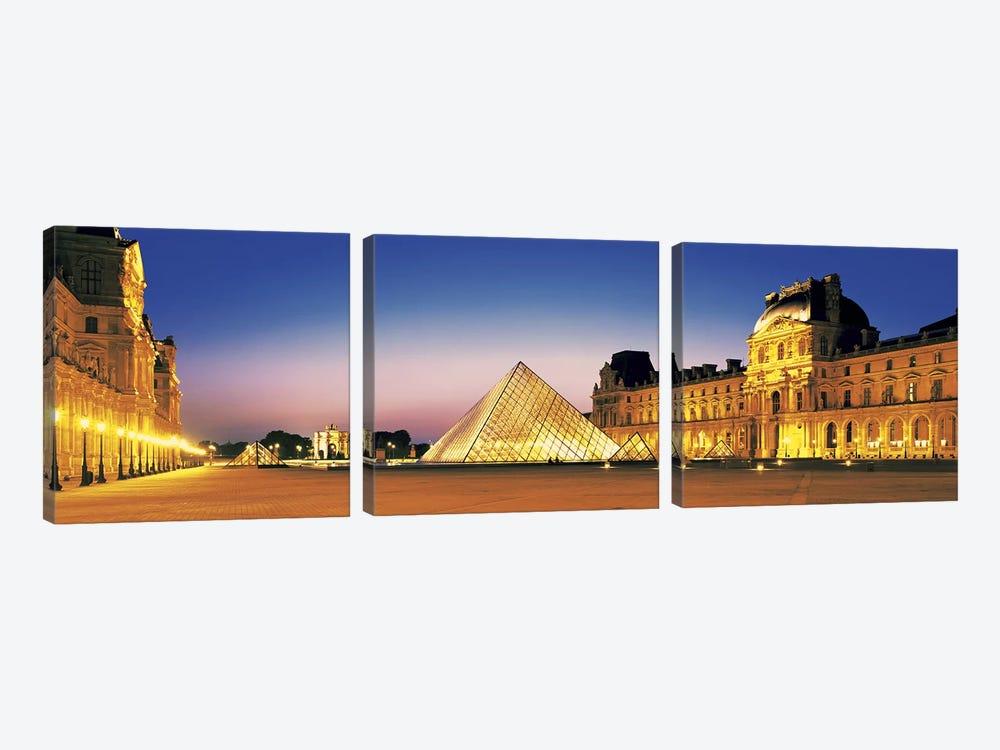 Louvre Paris France by Panoramic Images 3-piece Canvas Print