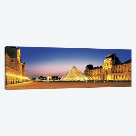 Louvre Paris France Canvas Print #PIM2753} by Panoramic Images Canvas Art Print