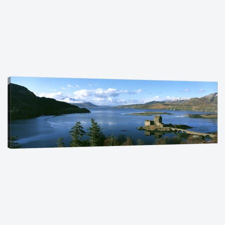 Eilean Donan Castle Scotland Canvas Print #PIM2754} by Panoramic Images Canvas Wall Art