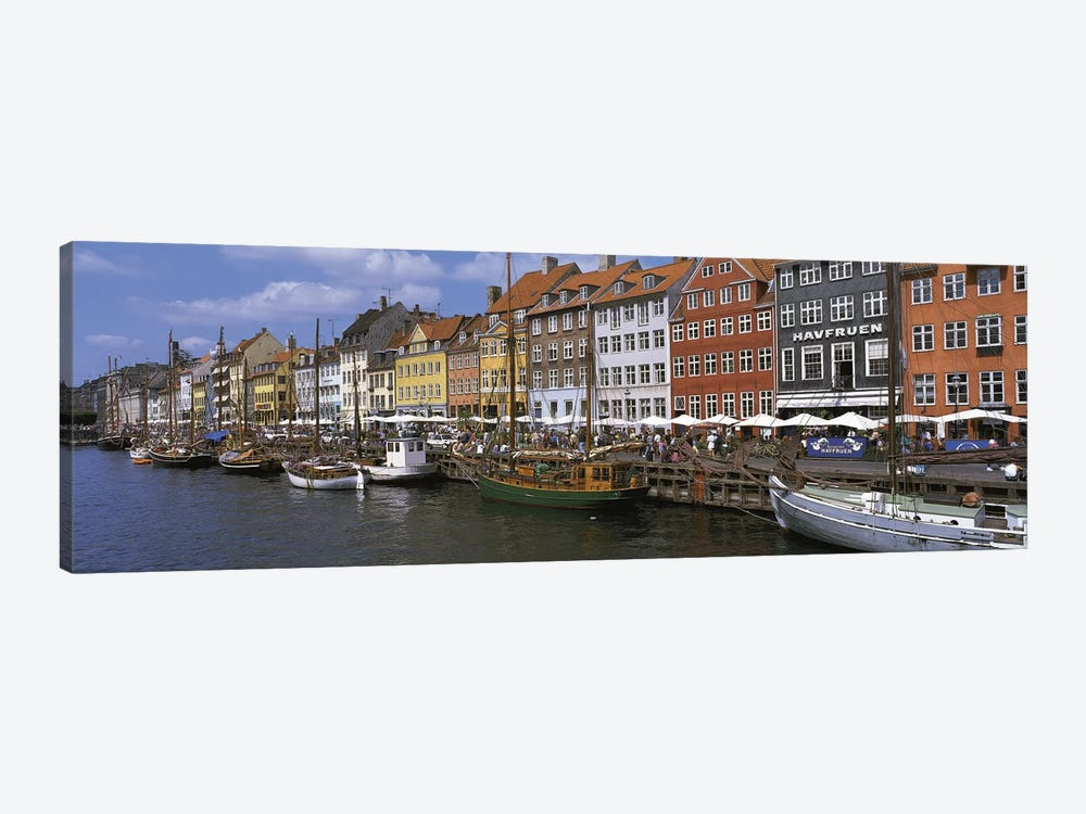 Nyhavn Copenhagen Denmark by Panoramic Images 1-piece Canvas Art Print