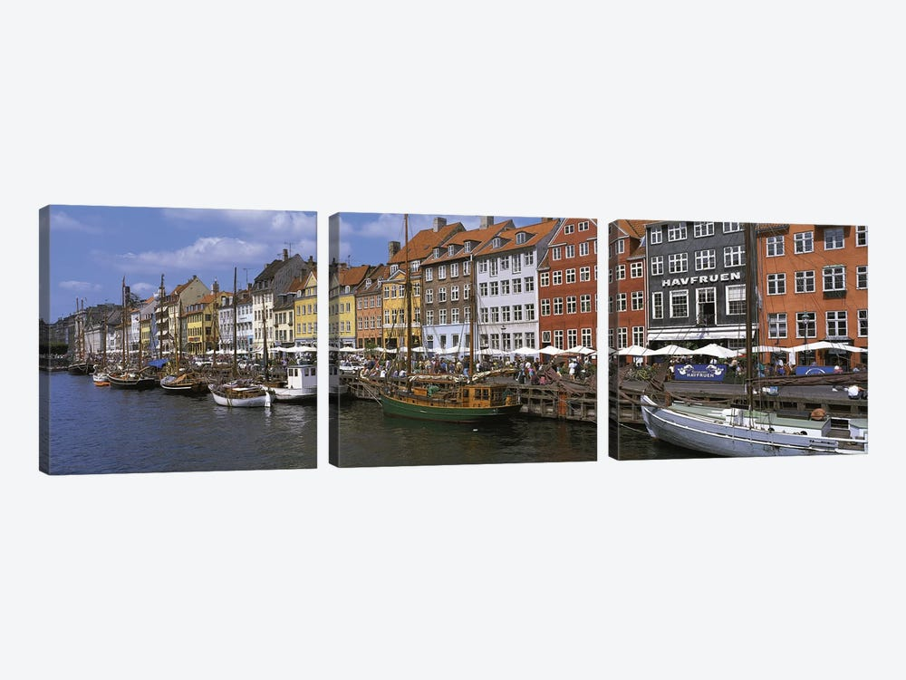 Nyhavn Copenhagen Denmark by Panoramic Images 3-piece Canvas Art Print