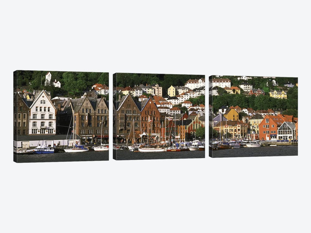 Bergen Norway by Panoramic Images 3-piece Canvas Art