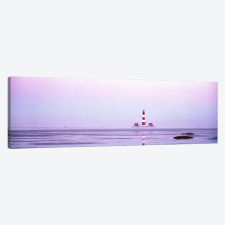Lighthouse Westerhever North Sea Germany Canvas Print #PIM2757} by Panoramic Images Canvas Wall Art