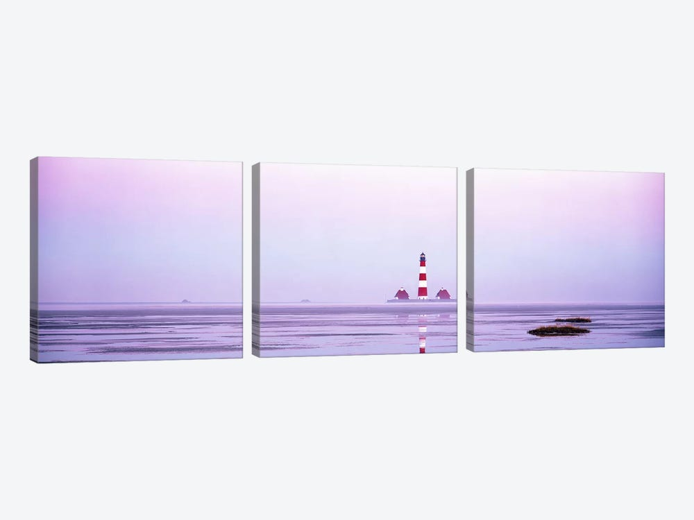 Lighthouse Westerhever North Sea Germany by Panoramic Images 3-piece Art Print