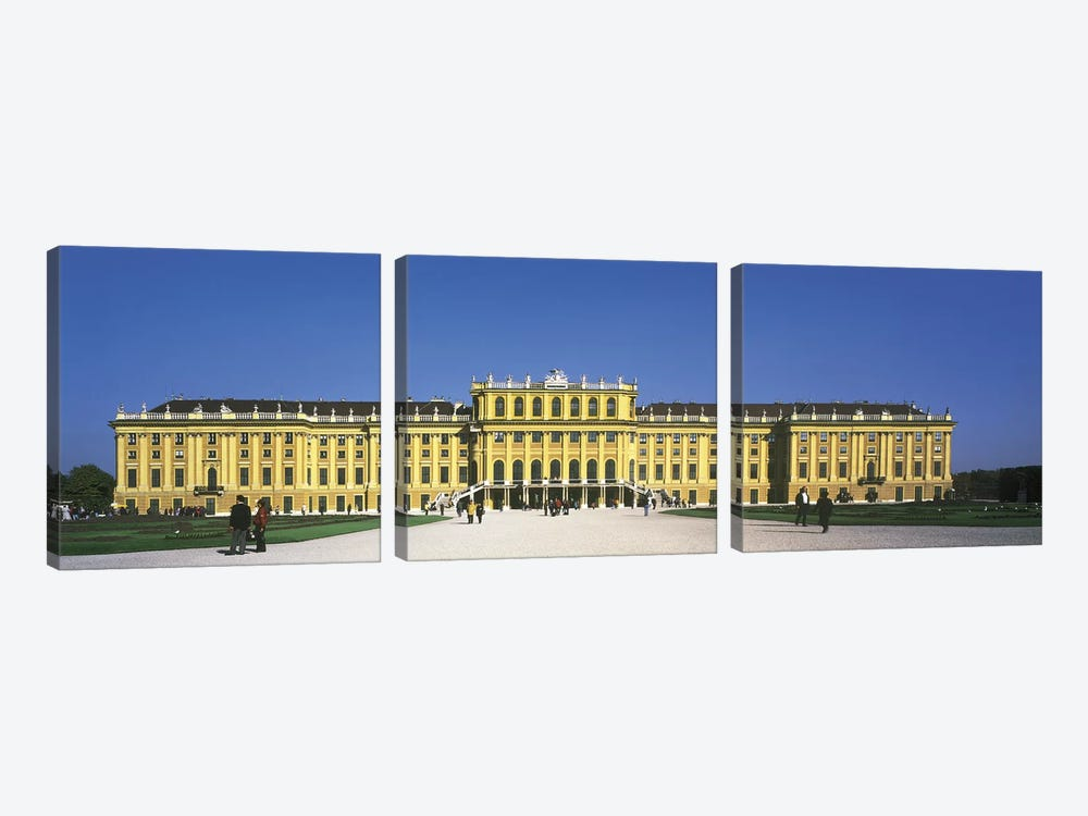 Schonbrunn Palace Vienna Austria by Panoramic Images 3-piece Canvas Print