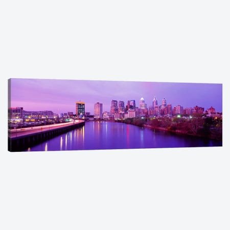 Twilight Philadelphia PA USA Canvas Print #PIM275} by Panoramic Images Canvas Wall Art