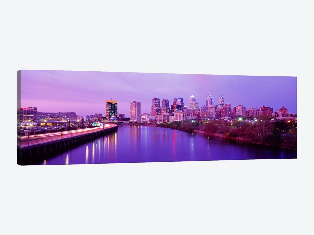 Twilight Philadelphia PA USA 1-piece Art Print