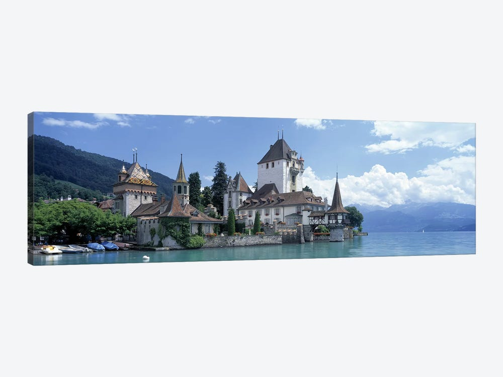 Oberhofen Castle Lake Thuner Switzerland by Panoramic Images 1-piece Canvas Art Print
