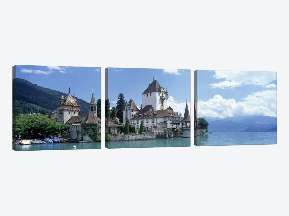 Oberhofen Castle Lake Thuner Switzerland by Panoramic Images 3-piece Canvas Art Print