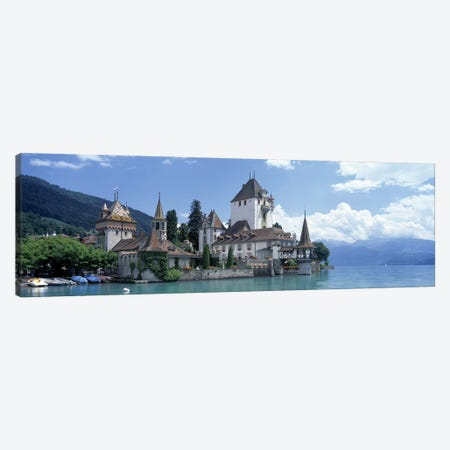 Oberhofen Castle Lake Thuner Switzerland Canvas Print #PIM2762} by Panoramic Images Canvas Art