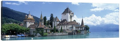 Oberhofen Castle Lake Thuner Switzerland Canvas Art Print
