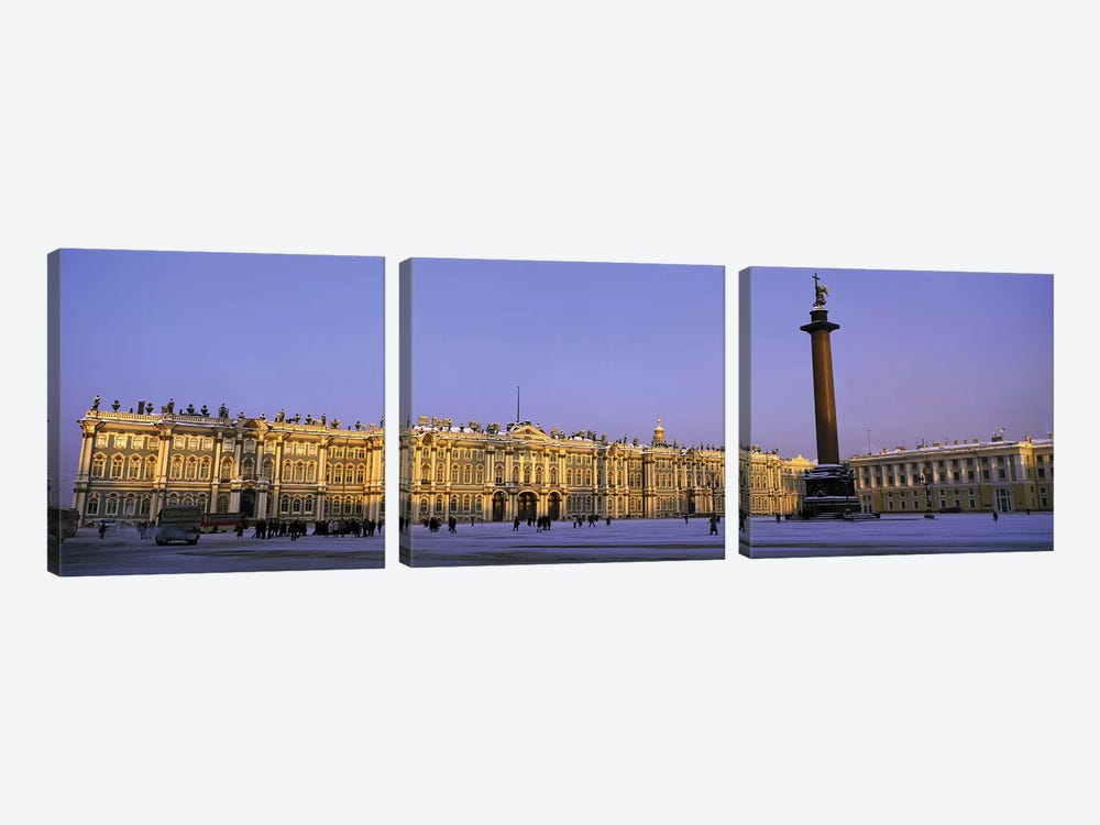 The State Hermitage Museum St Petersburg Russia by Panoramic Images 3-piece Canvas Print