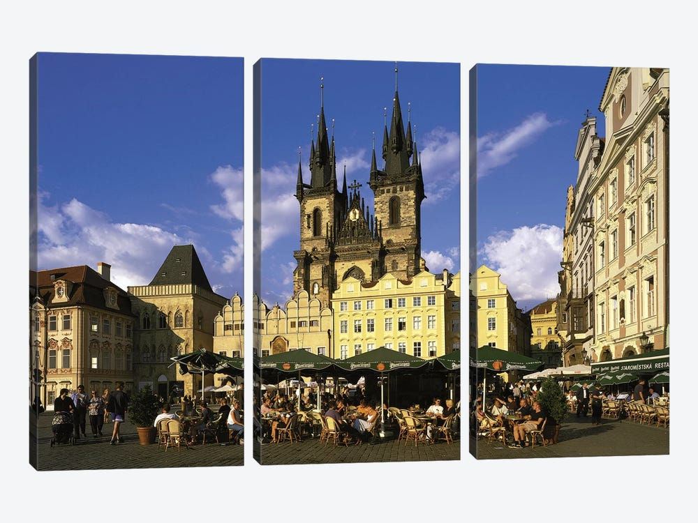 Prague Czech Republic by Panoramic Images 3-piece Canvas Art