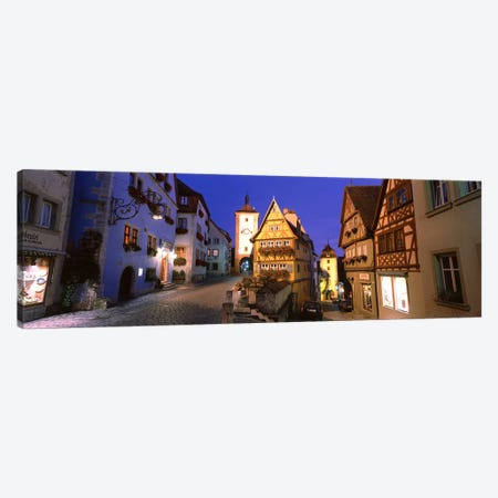 Plönlein (Little Square), Rothenburg ob der Tauber, Bavaria, Germany Canvas Print #PIM2768} by Panoramic Images Canvas Wall Art