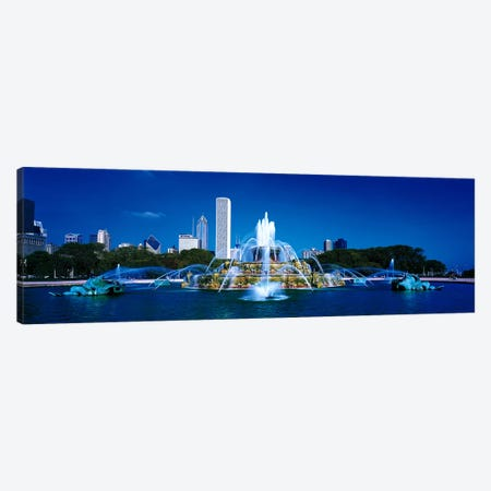 Buckingham Fountain Chicago IL USA Canvas Print #PIM2769} by Panoramic Images Canvas Artwork