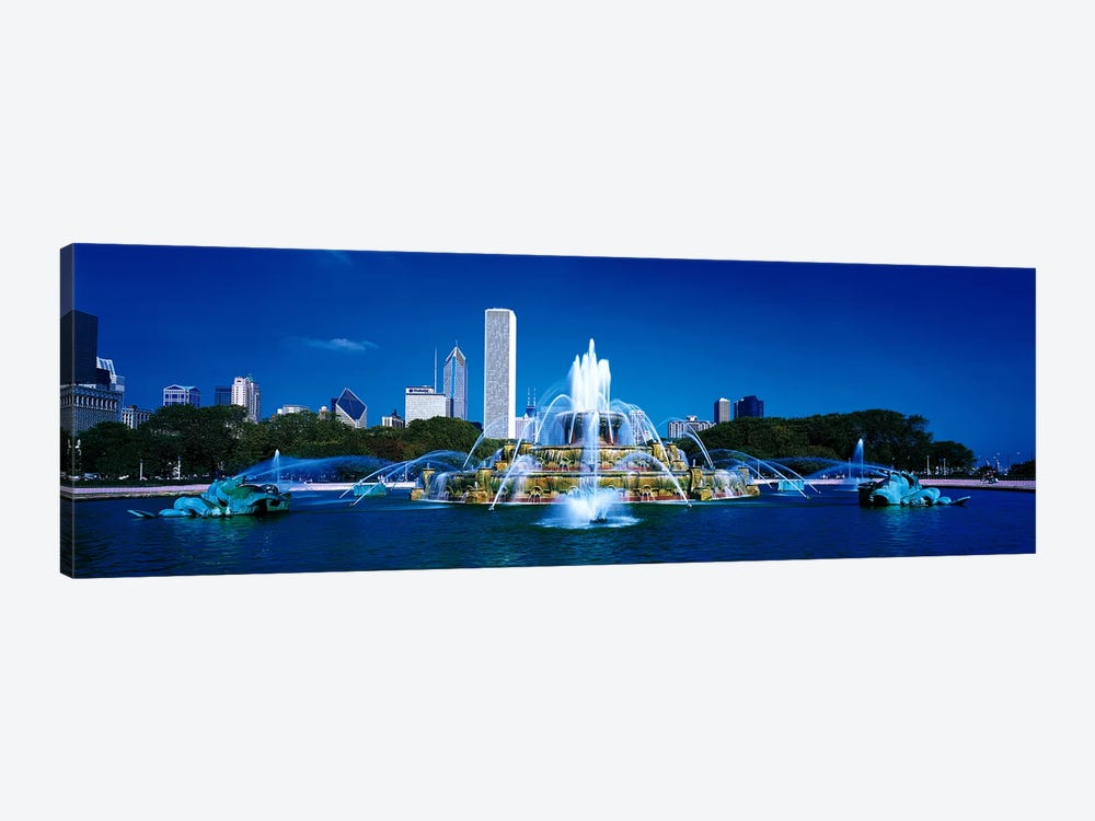 Buckingham Fountain Chicago IL USA by Panoramic Images 1-piece Canvas Artwork