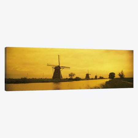 Windmills Netherlands #2 Canvas Print #PIM2770} by Panoramic Images Canvas Art Print