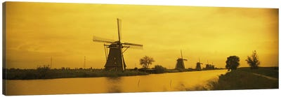 Windmills Netherlands #2 Canvas Art Print