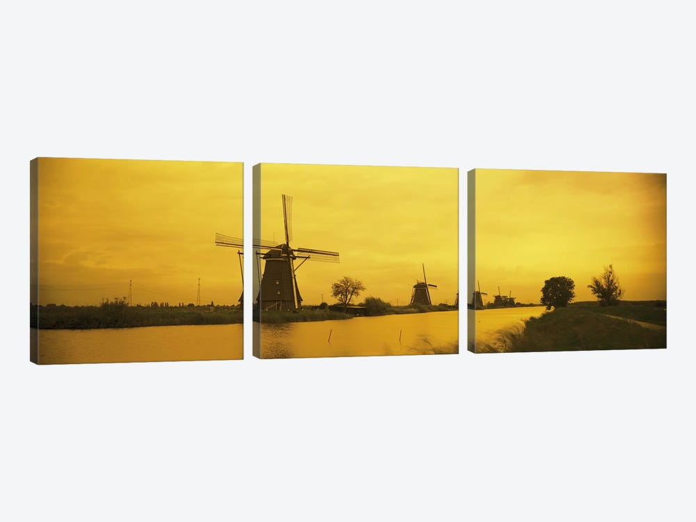 Windmills Netherlands #2 3-piece Canvas Artwork