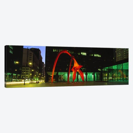 Alexander Calder's Flamingo, Chicago, Illinois, USA Canvas Print #PIM2771} by Panoramic Images Art Print