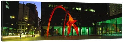 Alexander Calder's Flamingo, Chicago, Illinois, USA Canvas Print #PIM2771