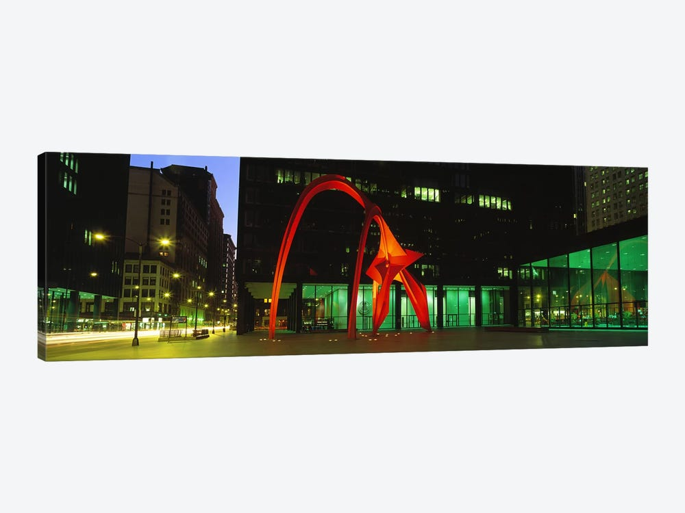 Alexander Calder's Flamingo, Chicago, Illinois, USA by Panoramic Images 1-piece Canvas Print