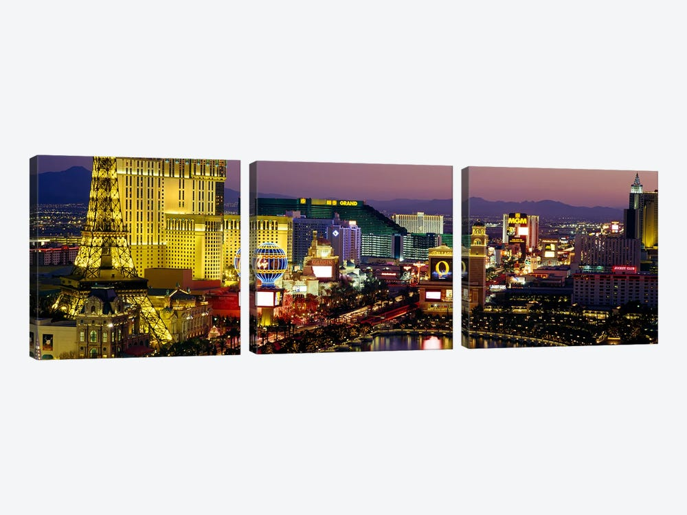 Las Vegas, Nevada, USA by Panoramic Images 3-piece Canvas Art Print