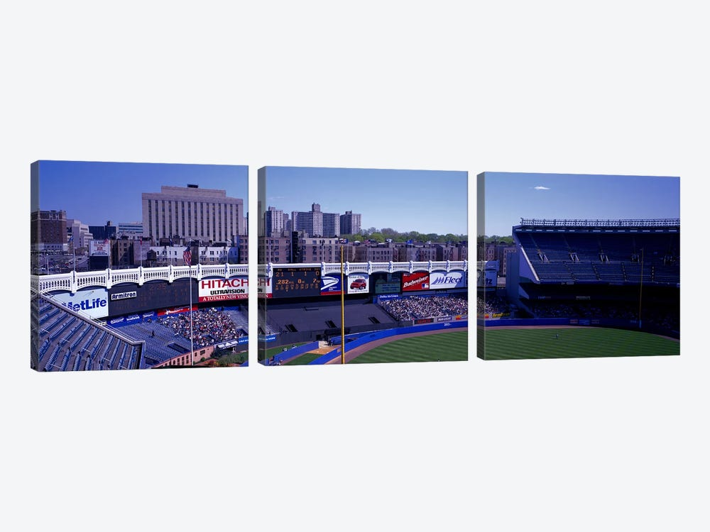 Yankee Stadium NY USA by Panoramic Images 3-piece Canvas Artwork