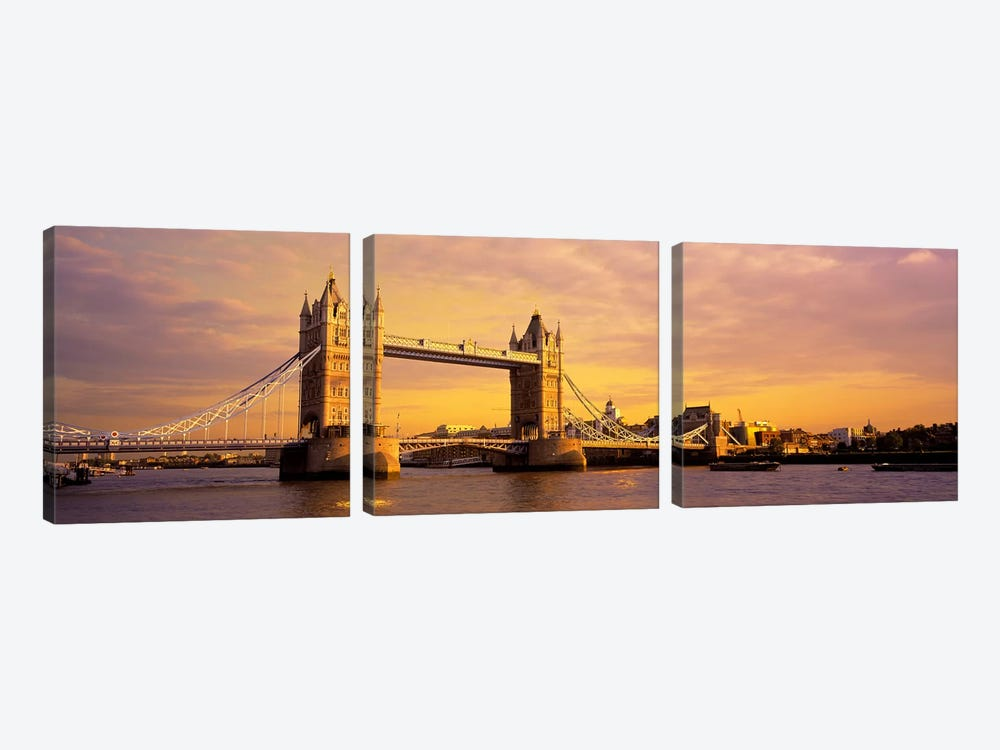 Tower Bridge London England by Panoramic Images 3-piece Canvas Print
