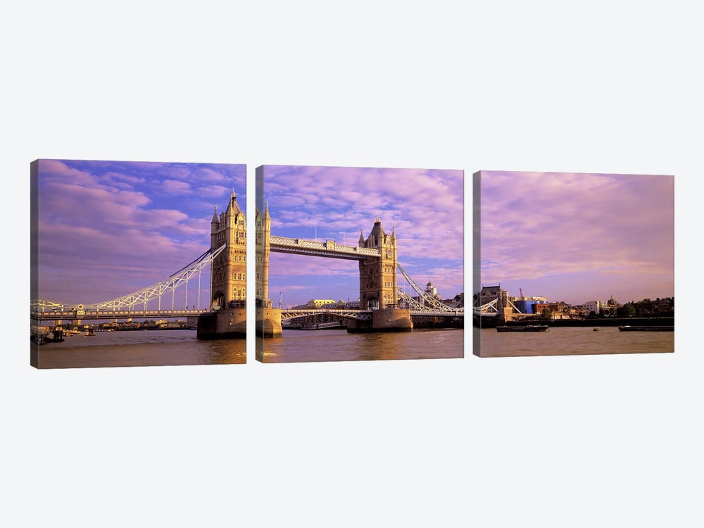 Tower Bridge London England by Panoramic Images 3-piece Canvas Artwork