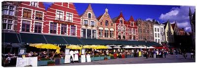 Street Scene Brugge Belgium Canvas Print #PIM2779