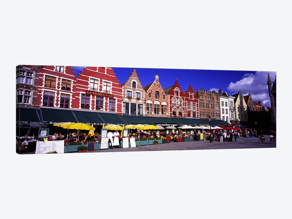 Street Scene Brugge Belgium by Panoramic Images 1-piece Canvas Print