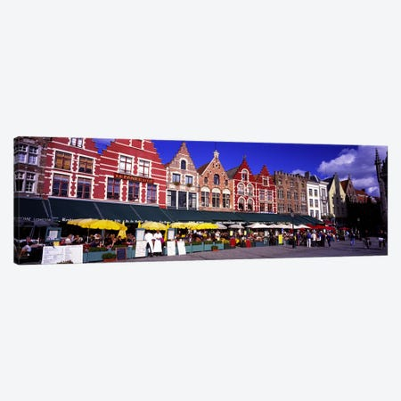 Street Scene Brugge Belgium Canvas Print #PIM2779} by Panoramic Images Canvas Art Print