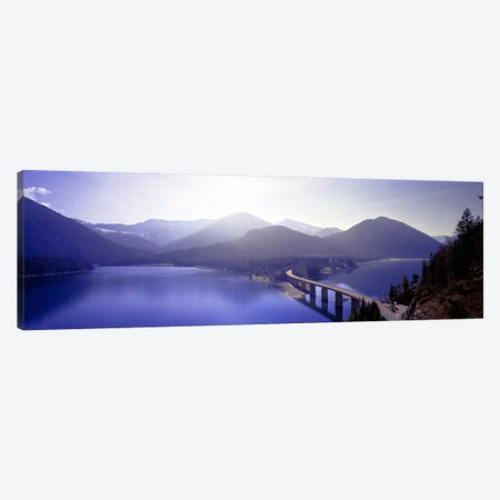 Bridge Sylvenstein Lake Germany Canvas Print #PIM2780} by Panoramic Images Canvas Artwork