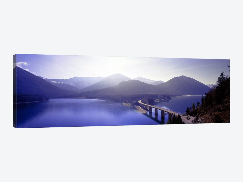 Bridge Sylvenstein Lake Germany by Panoramic Images 1-piece Canvas Print