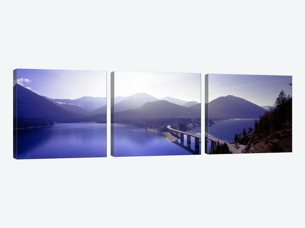 Bridge Sylvenstein Lake Germany by Panoramic Images 3-piece Art Print