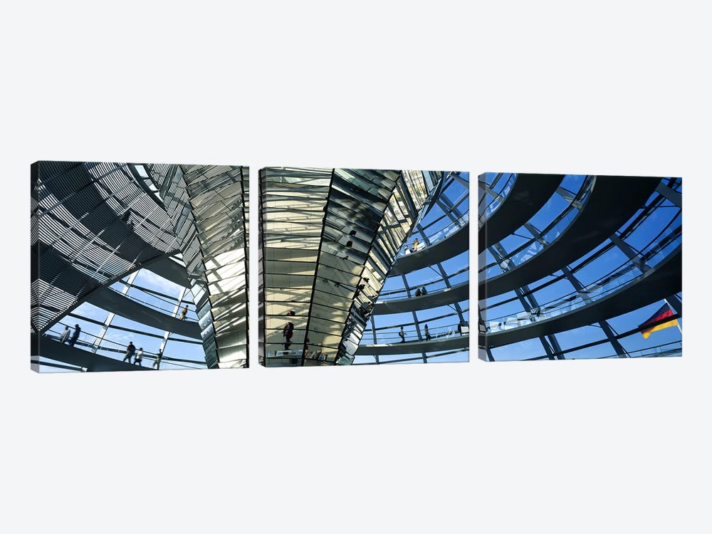 Glass Dome Reichstag Berlin Germany by Panoramic Images 3-piece Canvas Art Print