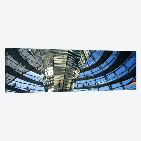 Glass Dome Reichstag Berlin Germany Canvas Print #PIM2782} by Panoramic Images Canvas Art