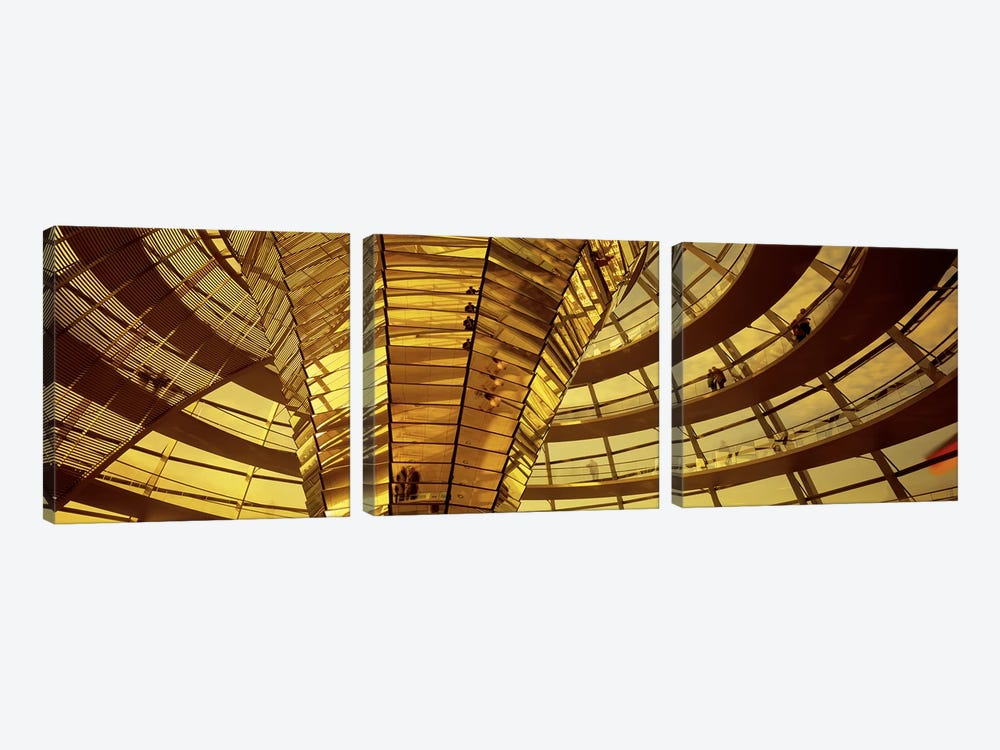 Glass Dome Reichstag Berlin Germany by Panoramic Images 3-piece Canvas Artwork