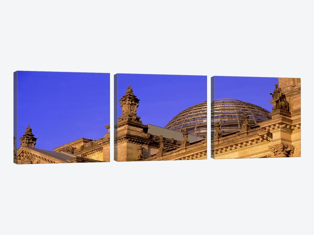 Glass Dome Reichstag Berlin Germany #2 by Panoramic Images 3-piece Art Print