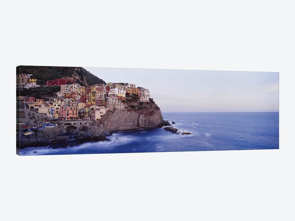 Coastal Village Of Manarola, Riomaggiore, La Spezia, Liguria Region, Italy by Panoramic Images 1-piece Canvas Artwork